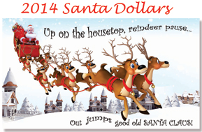 Santa Dollars 2013 Artwork