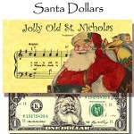 Santa Dollars - Bulk - Jolly Old St. Nick - Pack of 250