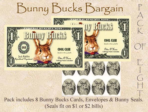 2016 CUTE CURRENCY CARDS (BUNNY BUCKS TN # 3) revised copy
