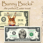 Bunny Bucks - Federal Reserve Note - with $2 bill