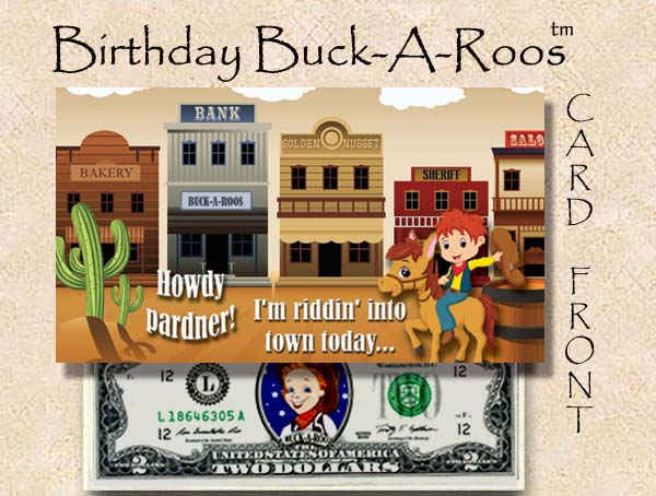 Birthday Buck A Roos #2 - with $2 bill