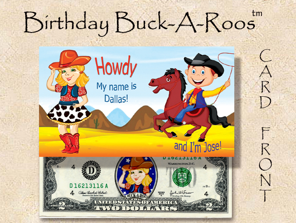 Birthday Buck A Roos #1 - with $2 bill