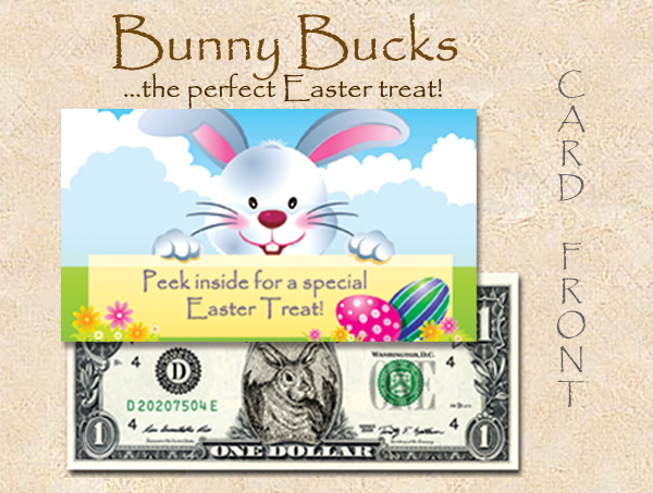 2016 CUTE CURRENCY CARDS (BUNNY BUCKS 2014 $1) TN # 1 copy
