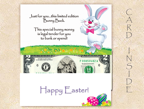 2016 CUTE CURRENCY CARDS (BUNNY BUCKS 2014 $2) TN # 2 copy