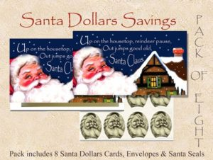 Santa Dollars - Up on the Housetop - 8 pack