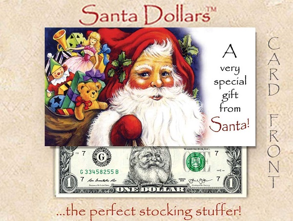 Santa Dollars - A Gift from Santa - Bulk - Pack of $250