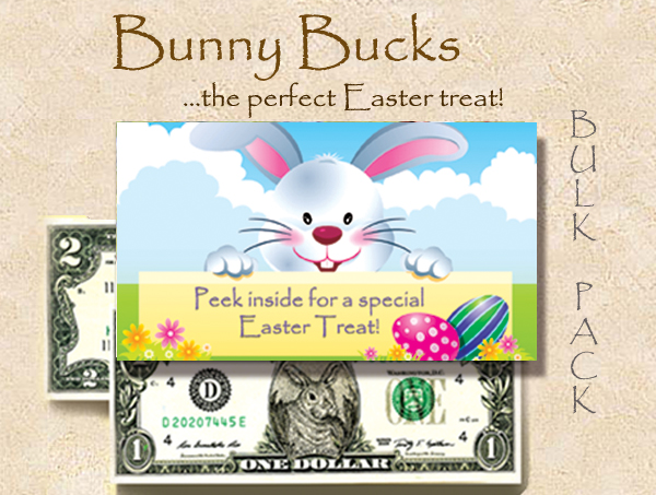 Bunny Bucks - Easter Treat - With $2 bill