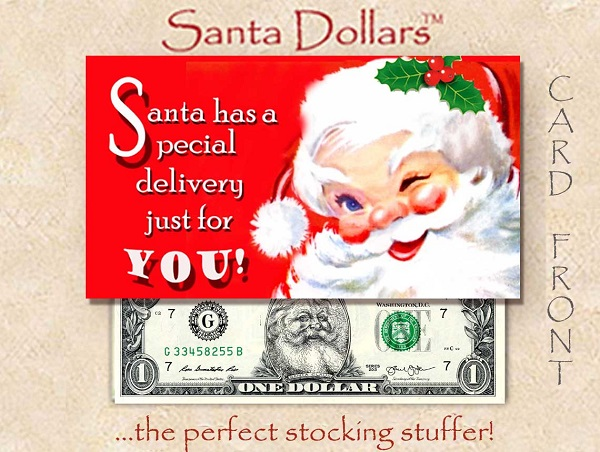 Santa Dollars - A Special Delivery - Bulk Pack of 250
