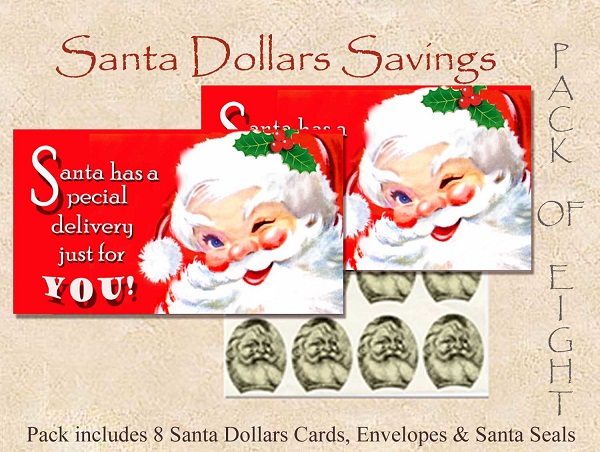 Santa Dollars - A Special Delivery - 8 pack