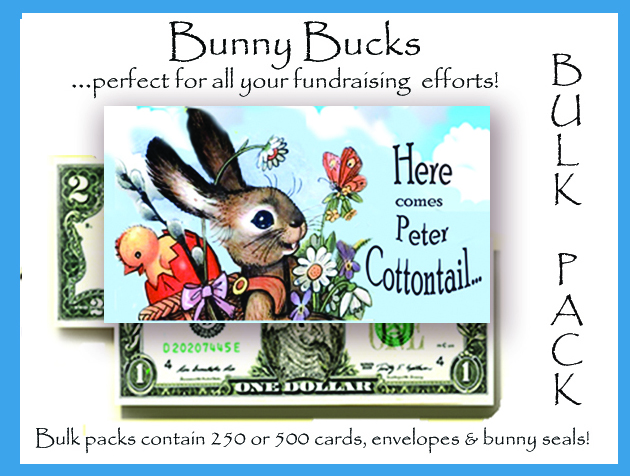 Bunny Bucks - Peter Cottontail- Bulk Pack of 100