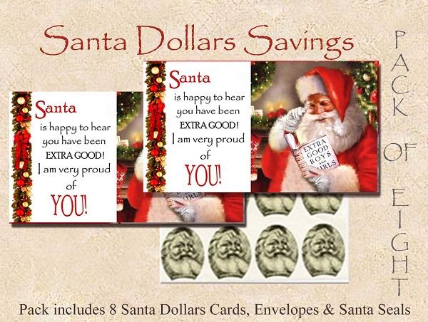 Santa Dollars - Santa's Special Visit- 8 pack
