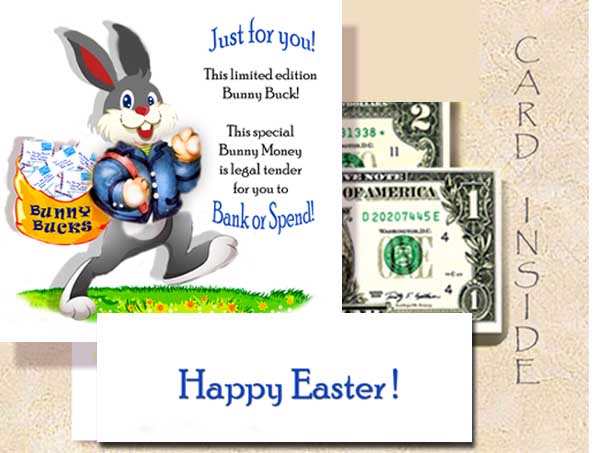Easter Greetings To You - With $2 bill